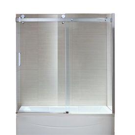 Ove Decors Sierra 60 In W X 59 In H Polished Chrome Frameless Bathtub Door Bathtub Doors Tub Doors Frameless Bathtub Doors