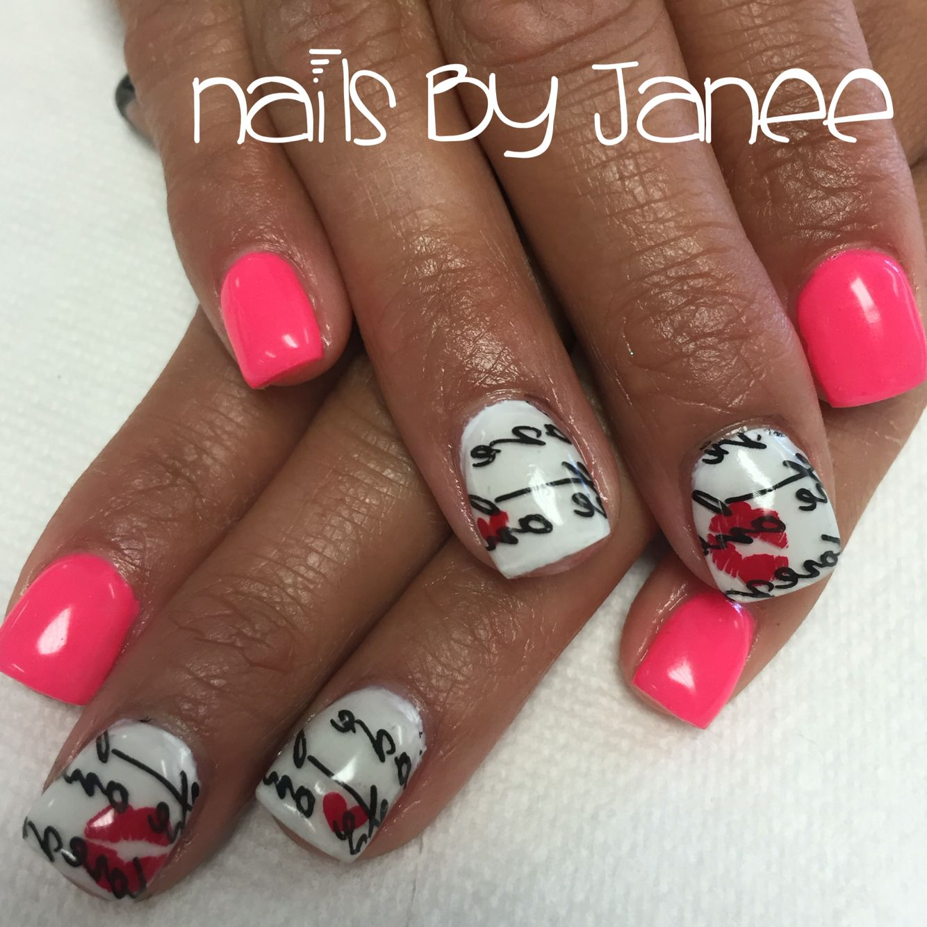 Valentine\'s Day nails by Janee at A Wild Hair Salon Reno Nevada ...