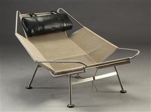 Lænestole - køb og salg af moderne, nyt, antikke og brugte - H. J. Wegner. Flaglinestolen / Flag Halyard chair - DK, Aarhus, Egå Havvej