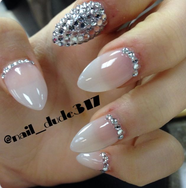 Stiletto Nail Art With Diamonds: Stiletto Nails *Diamond*