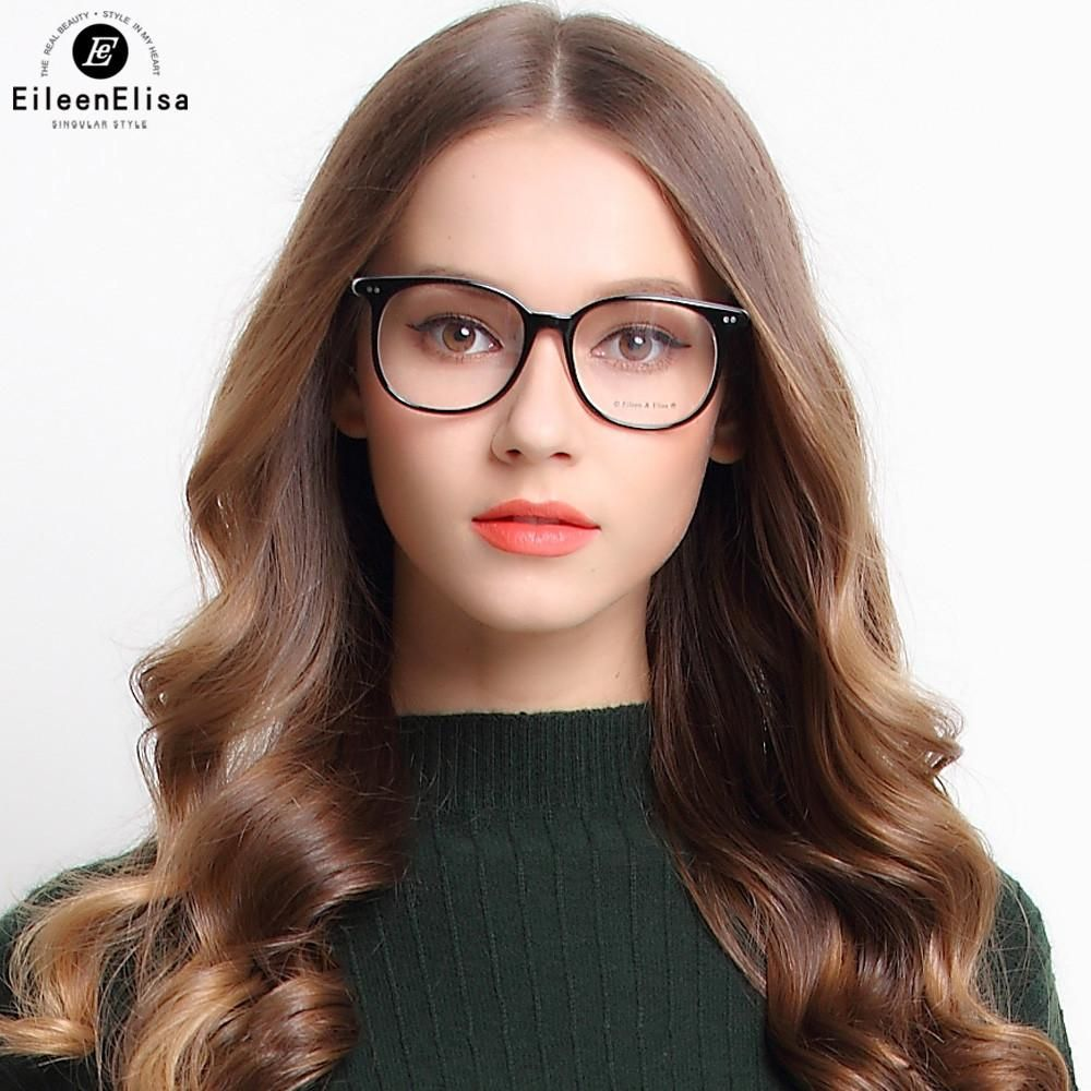 362a3ce43ad EE Newest Eyeglasses Frame Women Acetate Vintage Optical Frame Women  Fashion Eyewear Spectacle Frame For Woman
