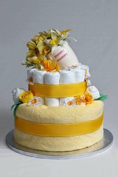 Yummy Mummy Mug Neutral Nappy Diaper Cake
