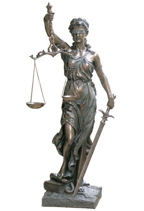 La Justicia Large Size Sculpture Statue Roman Statue
