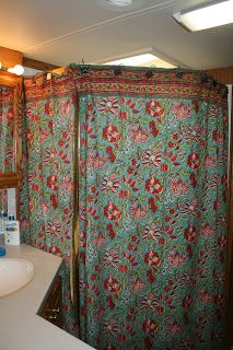 RV Shower Curtain Idea A Great Way To Get Privacy While Traveling With Family In An And One Bathroom