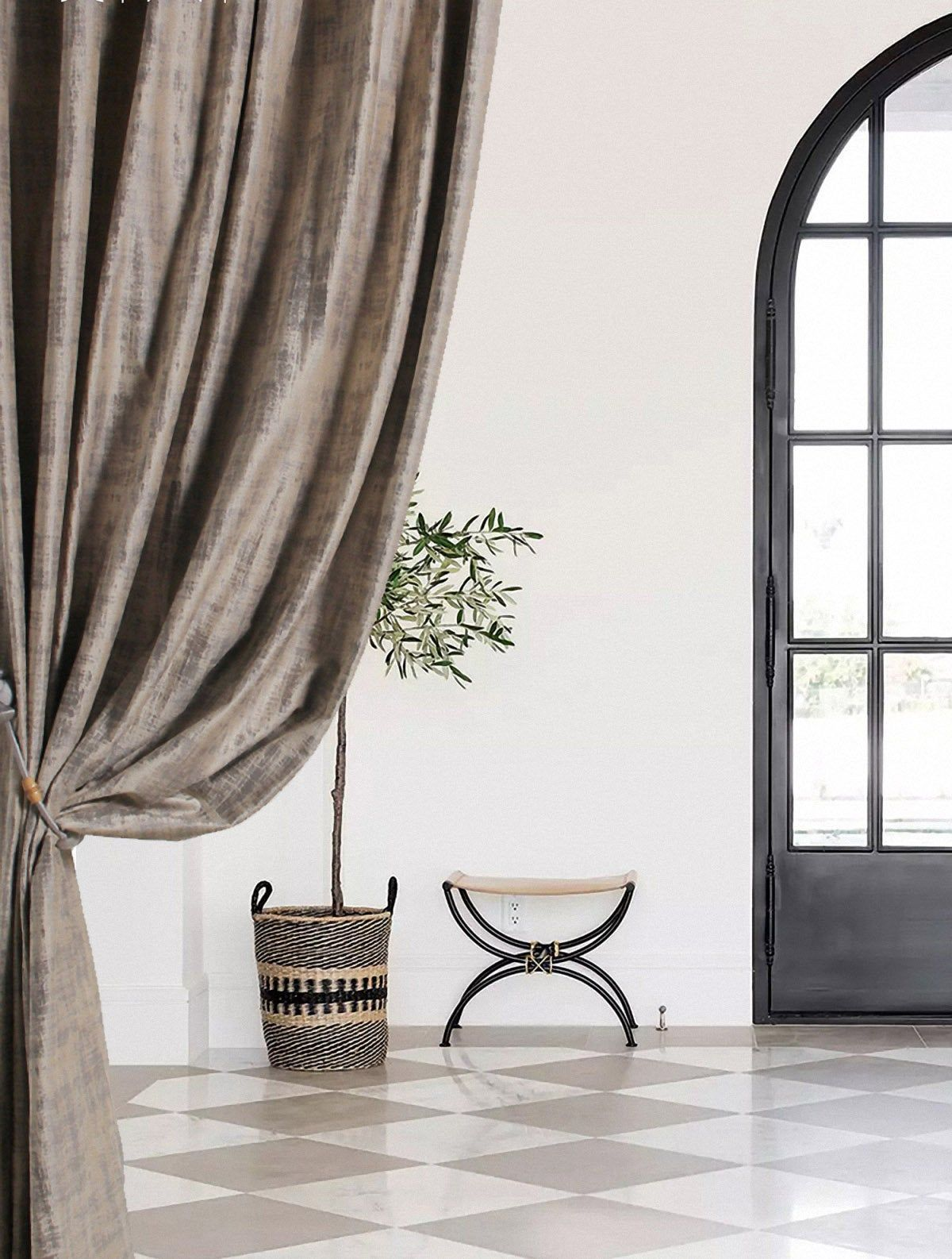 Pair Of Heavy Weight Velvet Curtains Curtain With Patterns