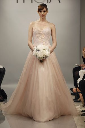 New Pink Wedding Dresses from Spring 2014