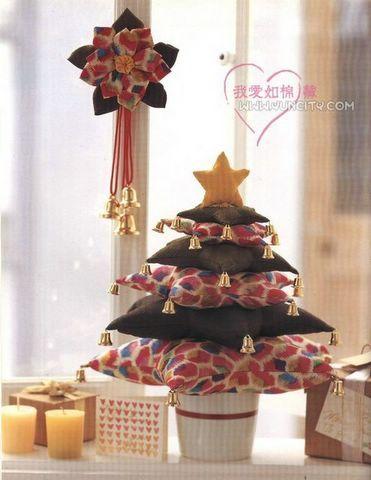 el costurero de palichi arbol de navidad en tela