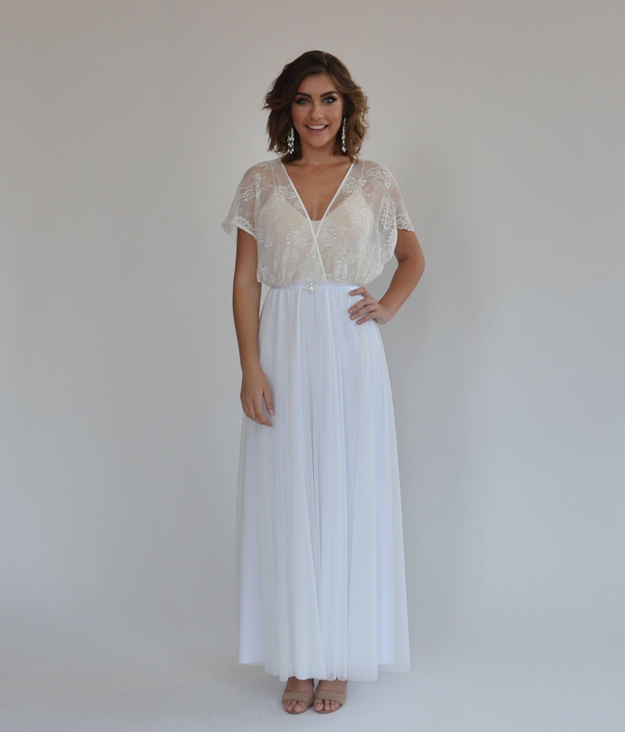 15 Most Romantic Bohemian Wedding Dresses Lace wedding