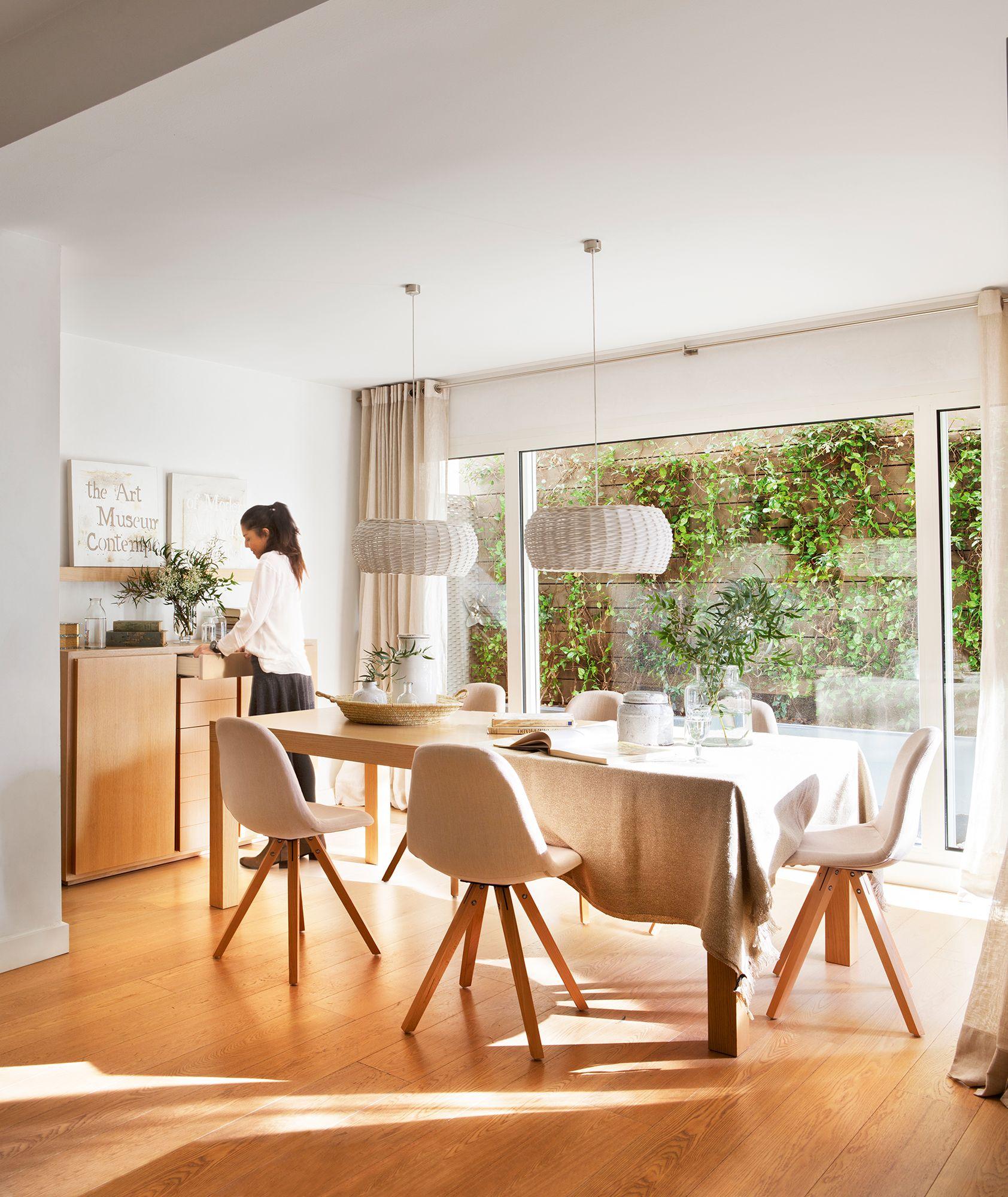 Ventanales Al Patio Casa Con Ventanales Cocinas Con Ventanales Diseno De Sala Comedor