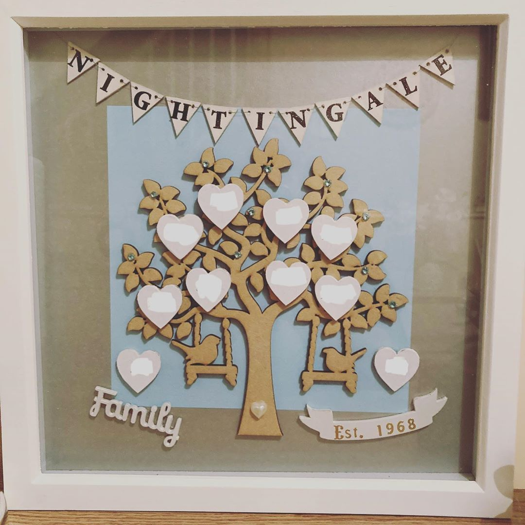 Been busy this week creating a special order. It's off to its new home today. #crafts #crafting #family #familytree #decor #decoration #homedecor