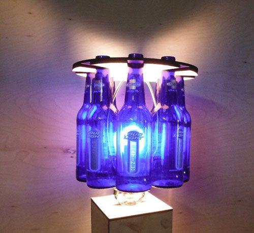 Elegant Beer Bottle Lamp Shade Holds 8