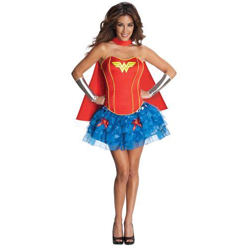 Wonder Woman Flirty Adult Halloween Costume $3973 my halloween - halloween girl costume ideas