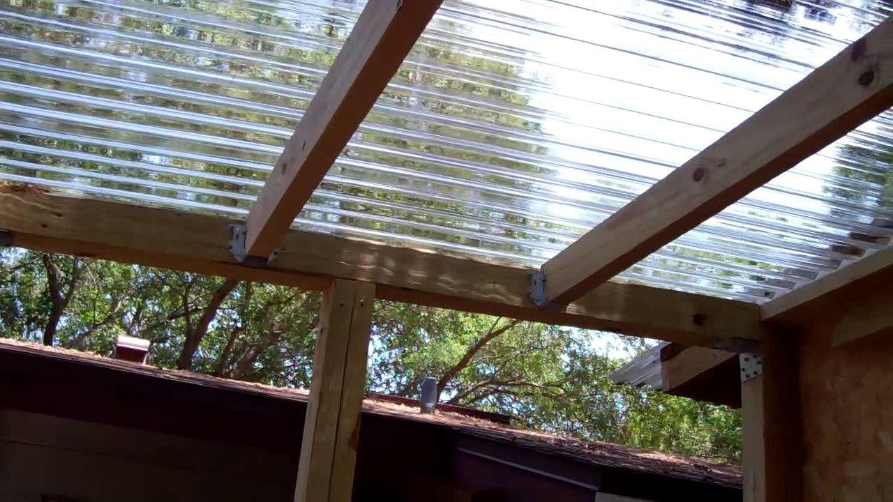 Clear roof panels for pergola pergola pinterest for Plaque polycarbonate pour pergola
