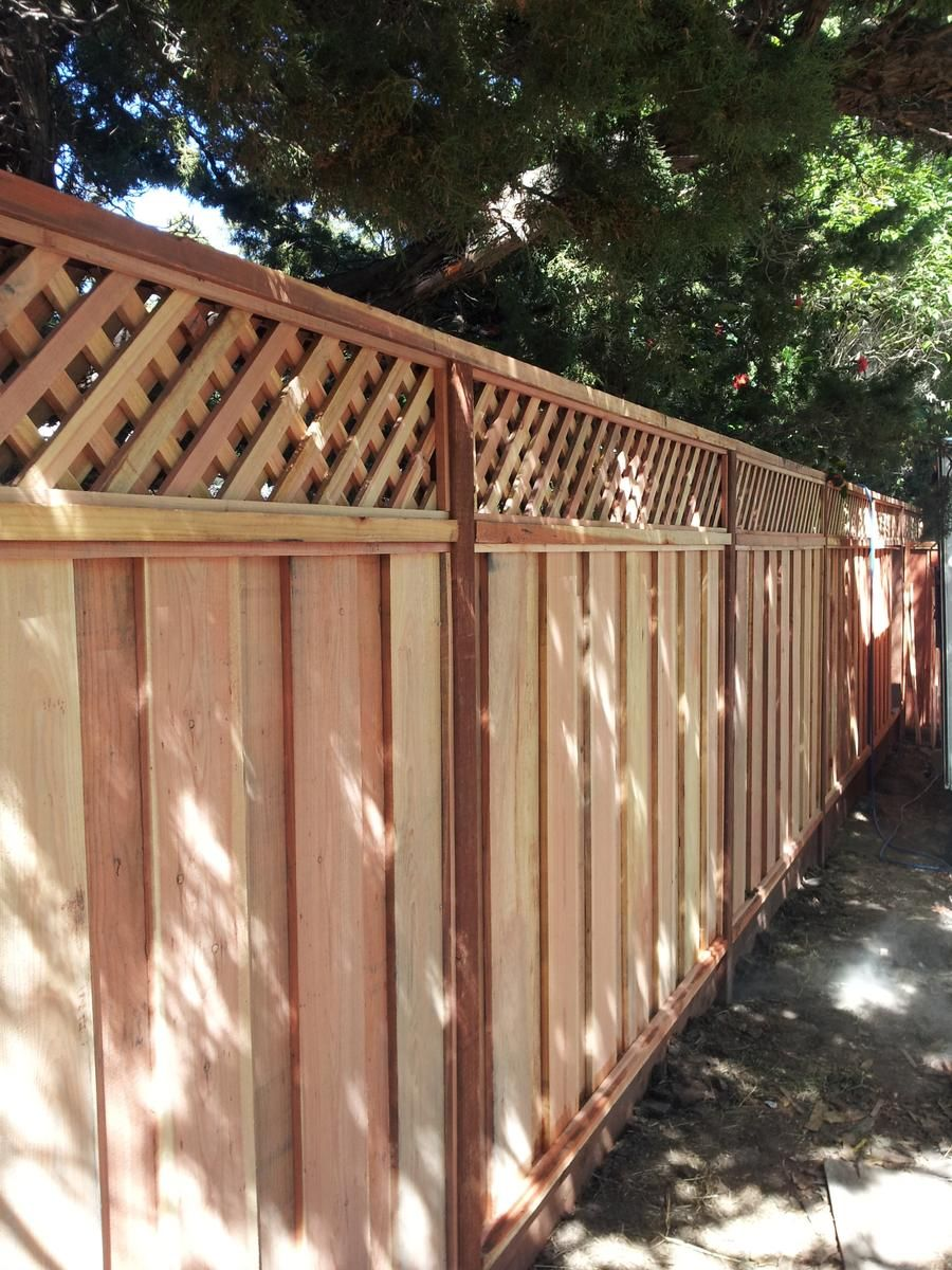 Redwood Fence Building Repairs Reuben Borg Fence In Dublin Ca