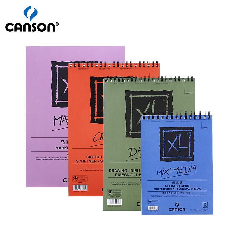 Canson Xl Series Mix Media Pad Canson Xl Mix Media Marker Sketch Dessin Pads Side Wire Notebooks