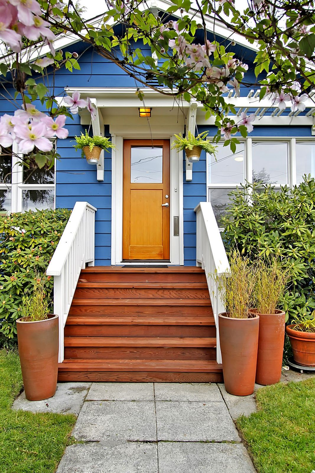 wooden front step designs the welcoming entryway is redefined with wide wood steps and landing