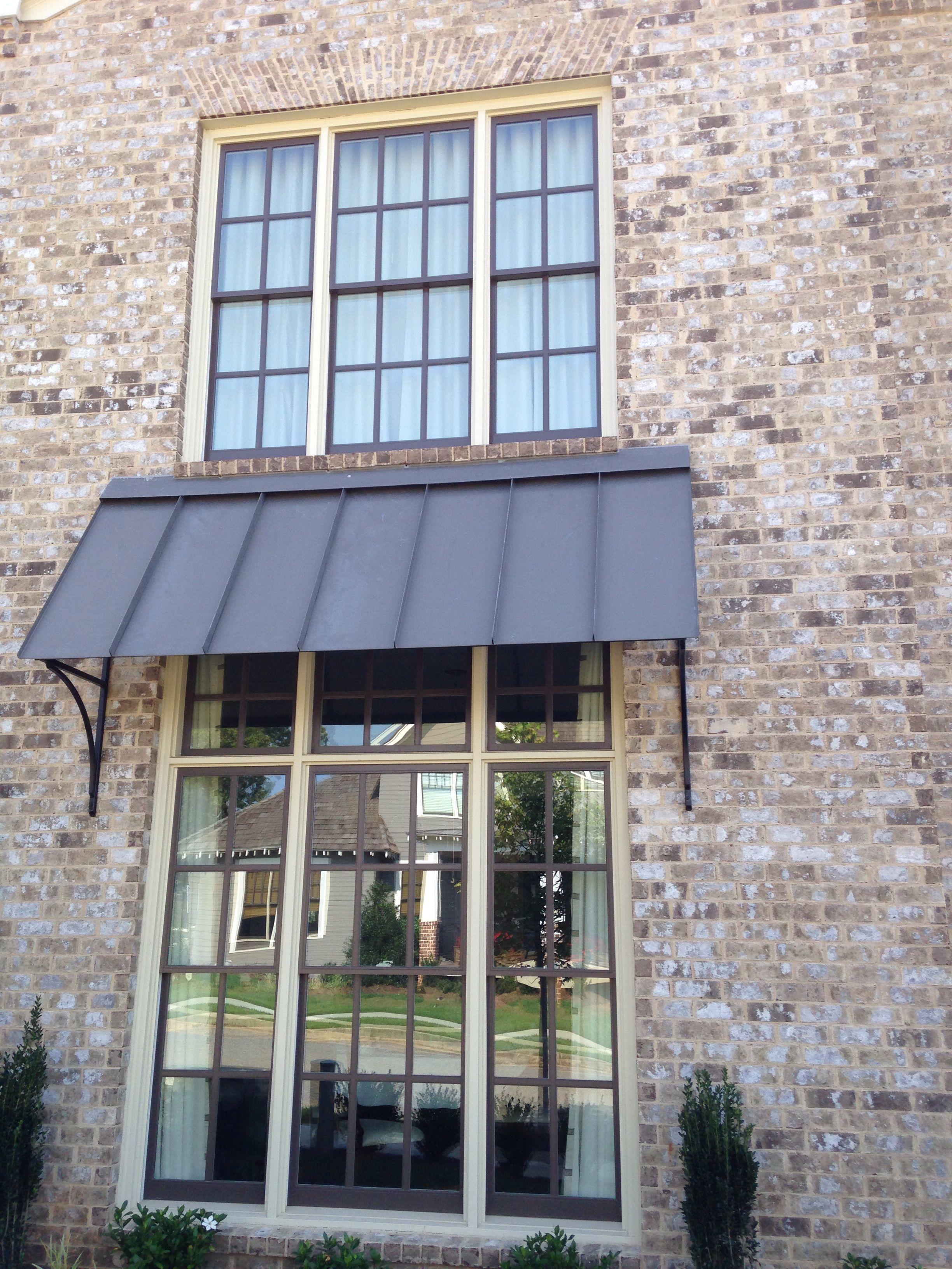 Brick Magnolia Ridge Mortar Coosa Cream Exterior Brick Metal Awning House Exterior