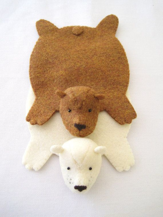 Bear Rug Coasters Cuuuute With