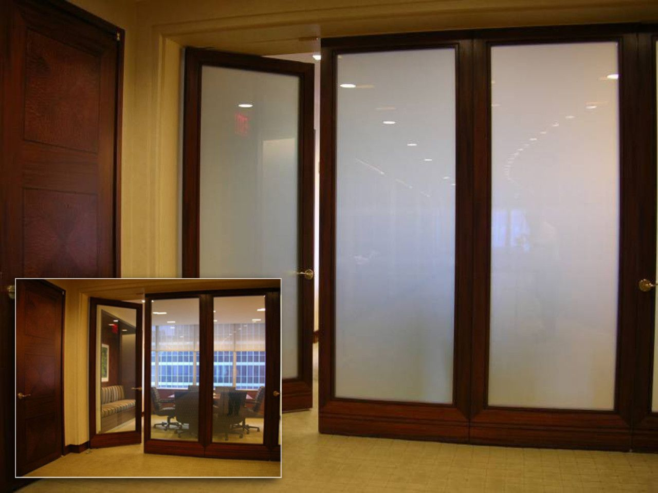 glass door office. Wood Framed Switchable Privacy Glass Doors | Modern Conference Room - EGlass By Innovative Corp Door Office