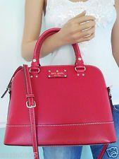 Nwt Kate Spade Red Wellesley Leather Shoulder Crossbody Bag Satchel Purse