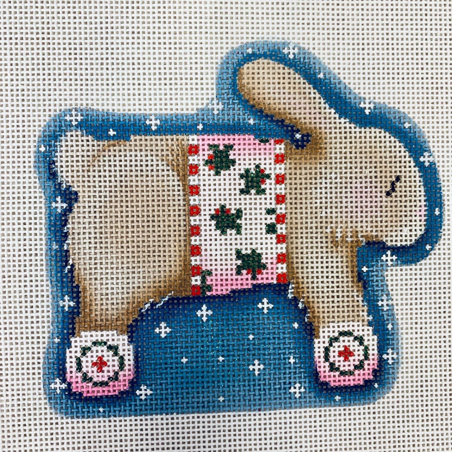 Brown Bunny Needlepoint Canvas