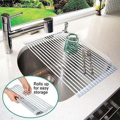 Roll Up Over The Sink Sturdy Dish Drying Rack Ebay 29 98 Or At