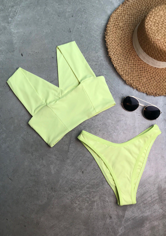 378300678a256 L Space Swim Resort 2019 PARKER Bikini Top + WHIPLASH High Leg Bikini Bottom