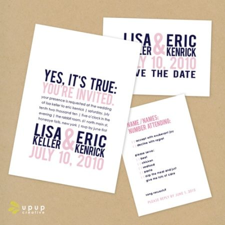 Clever wedding invitation ideas Credit Up Up Creative – Funny Wedding Quotes for Invitations