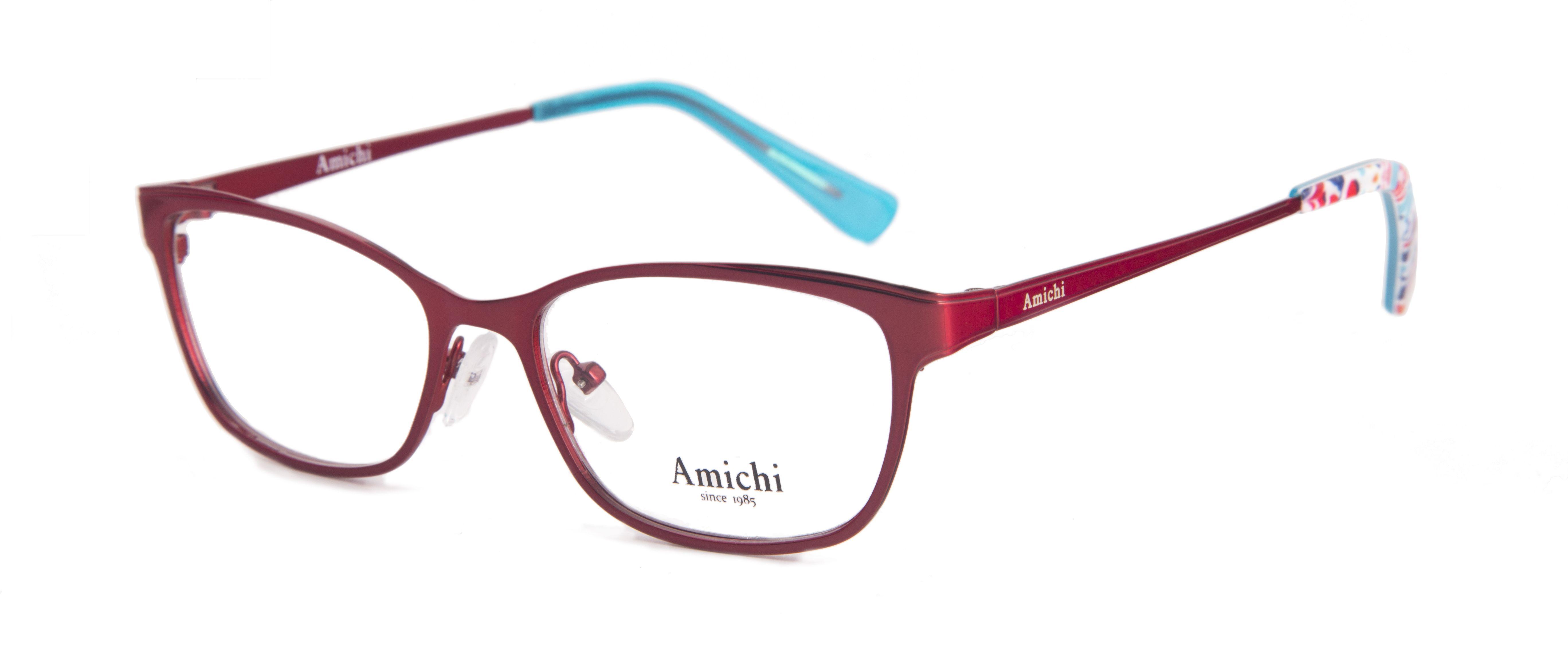 Gafas Amichi para Opticalia. Montura de metal en color rojo y ...