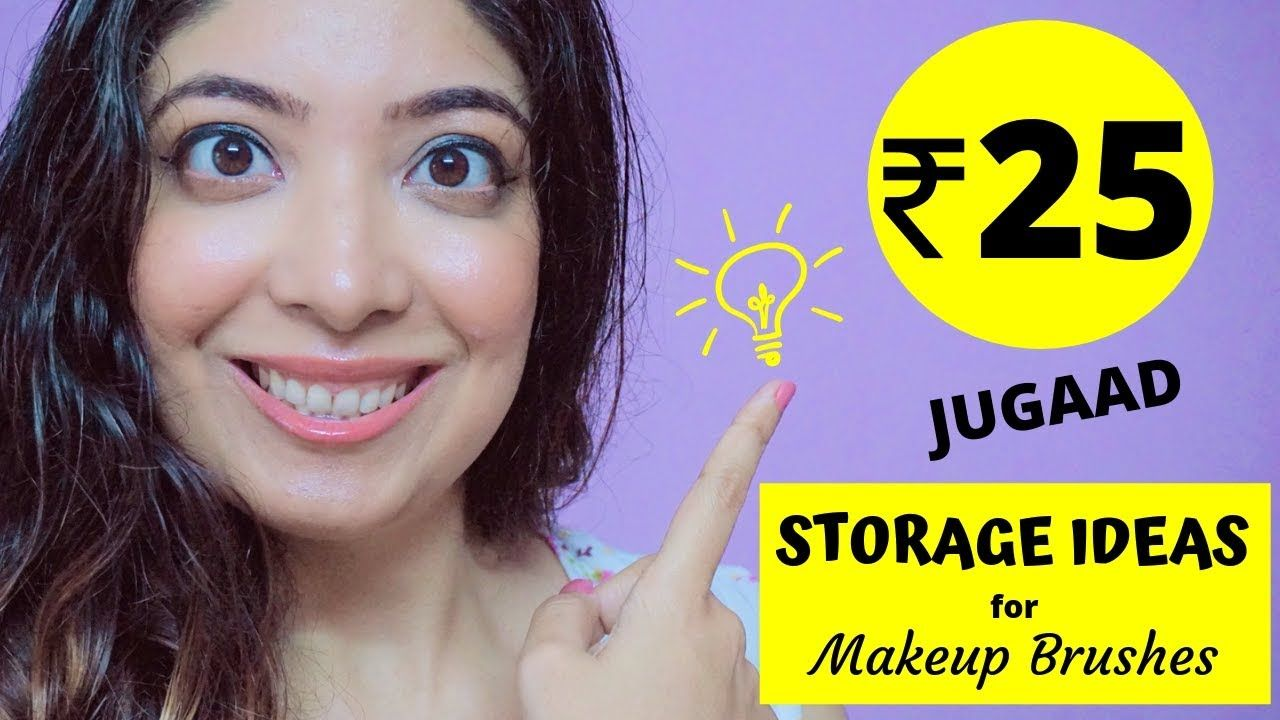 Cheap Storage Ideas Only Rs.25 Jugaad for Makeup Brushes
