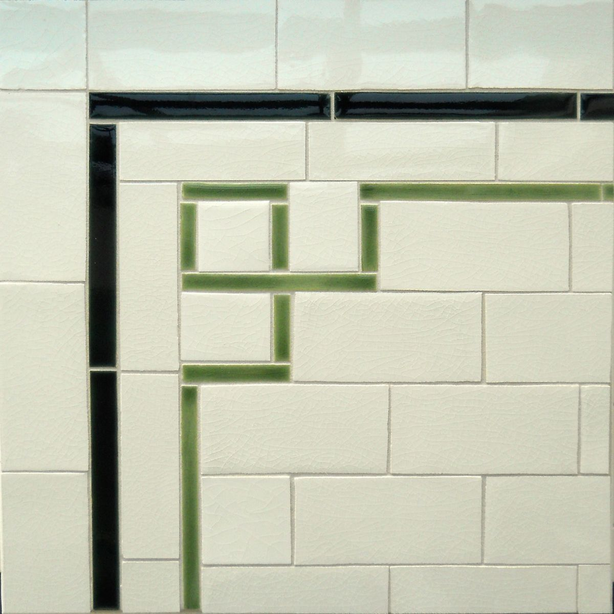 crazed tile with pencil