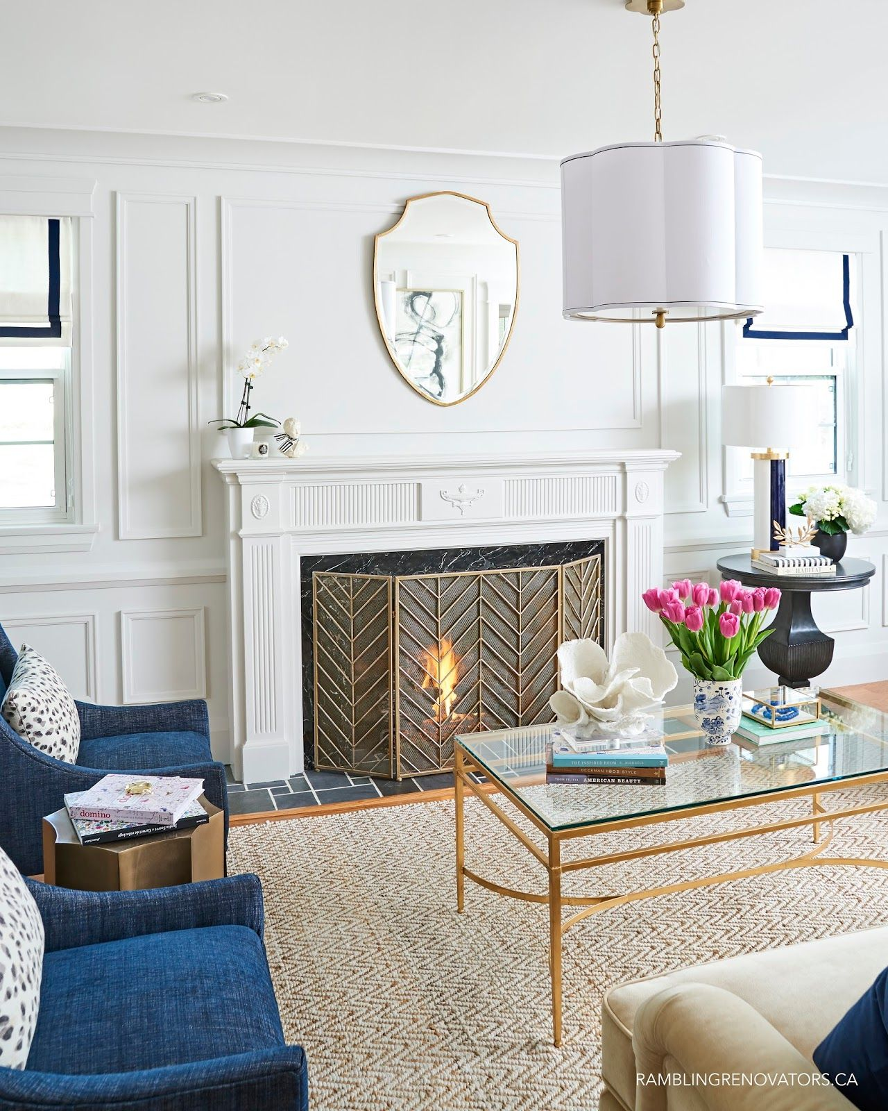 One Room Challenge Spring 2017 Modern Traditional Living Room
