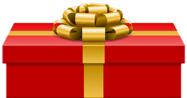 Red Gift PNG Clip Art Image