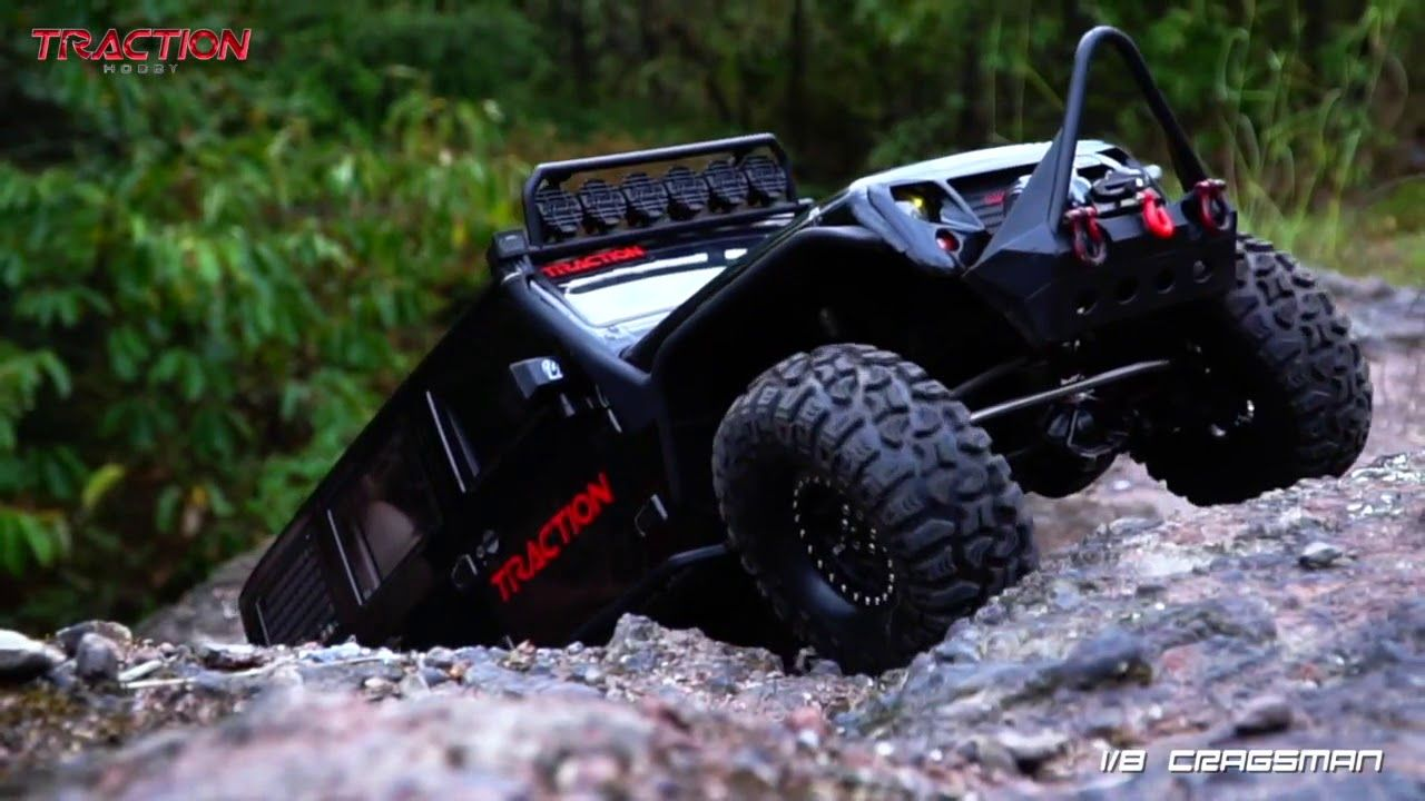 Traction Hobby 1 8 Scale Trail Rc Crawler Cragsman Performance Show In 2021 Rc Crawler Monster Trucks Rc Jeep