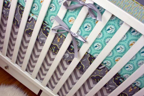 Bumpers/ Sheet/ Skirt/ Pillow Baby Boy Bedding Crib by modifiedtot, $330.00