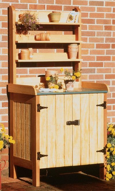 Potting Table and Compost Bin  Large-format Paper Woodworking Plan