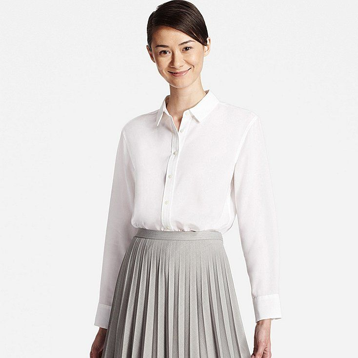 002d734967 UNIQLO Work Shirts, Uniqlo, White Shirts, Women Button Down Shirt, Short  Sleeve