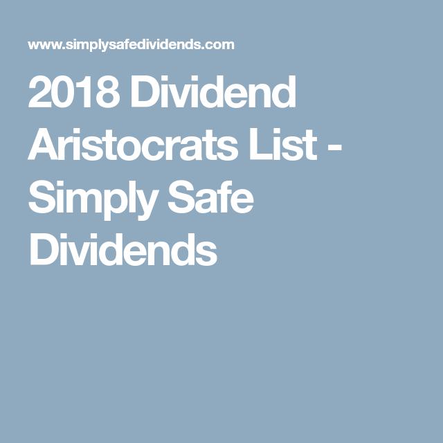 2018 dividend aristocrats list simply safe dividends aristocrat target balance sheet