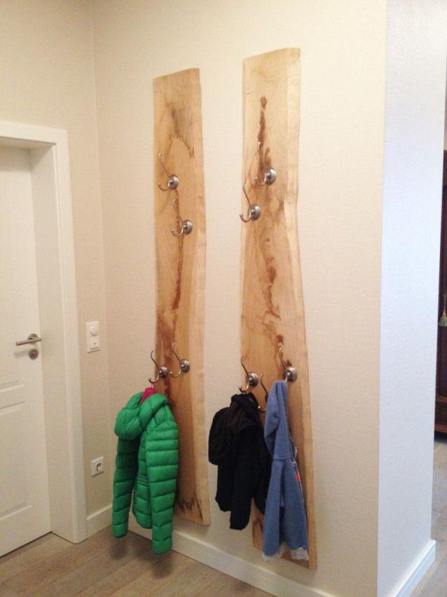 Garderobenbrett Garderobe Hangegarderobe Eiche Massiv Modell