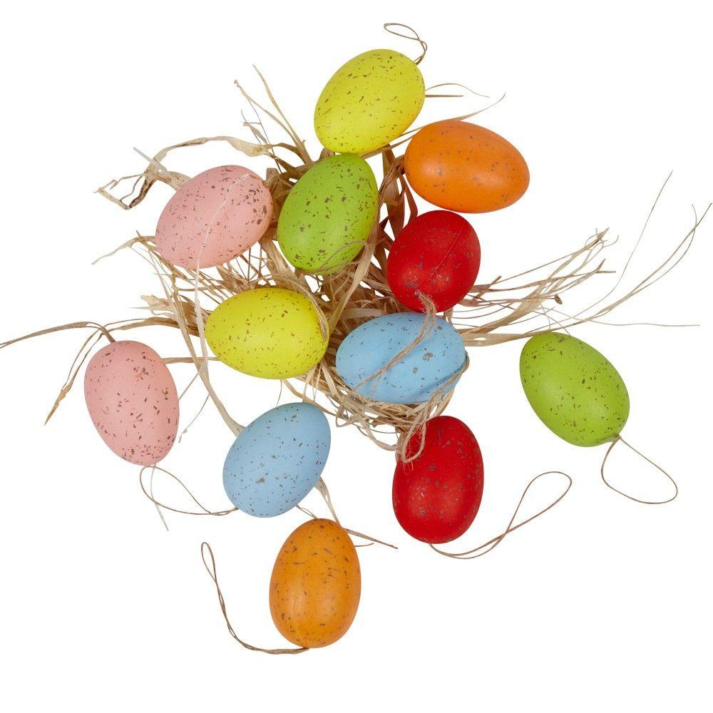 Oeuf de Pâques x12 et paille | Pailles, Animaux en resine et Pâques