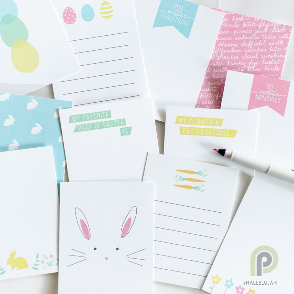 Hallelujah x easter cards from persnickety prints free download