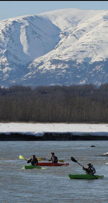d1d4cb087 Kayakers paddle down the Matanuska River near Palmer on a sunny Monday
