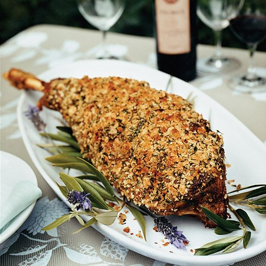 Herb-Crusted Leg of Lamb