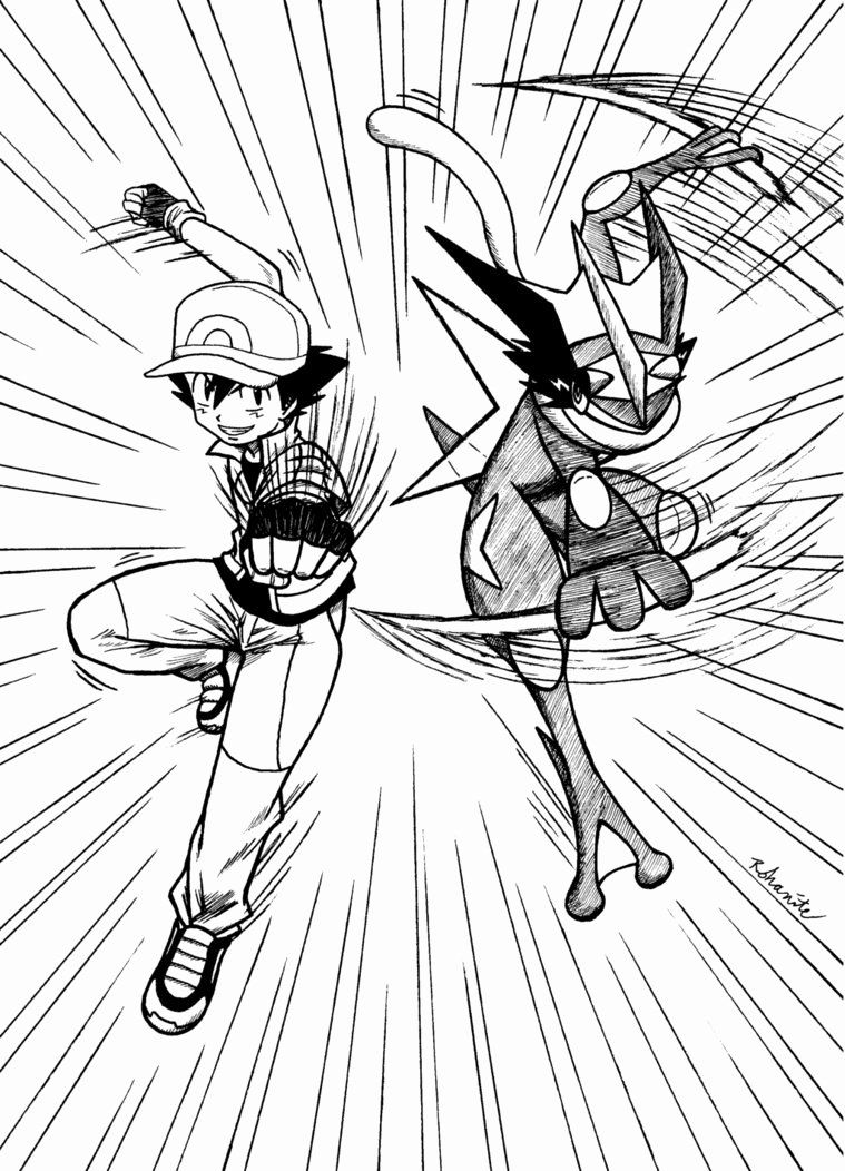 Ash Greninja Coloring Page New Ash Greninja By Rohanite On Deviantart Pokemon Ash And Misty Pokemon Sketch Pokemon