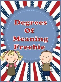 Degrees Of Meaning Freebie Guided Reading Groups Word Study Autumn Activities