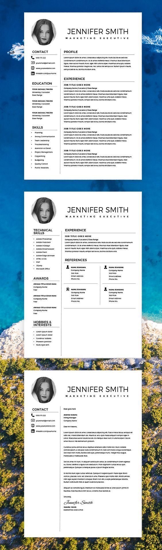 Resume with Photo, Marketing Resume Template, Resume Template Word ...