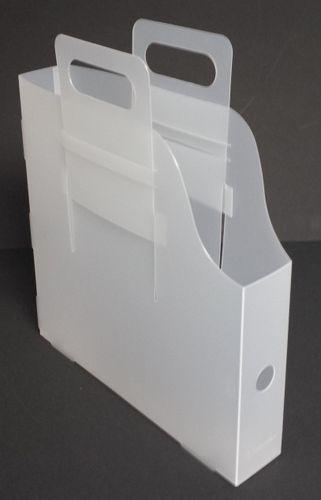 Boite En Plastique Pour Ranger Les Papiers A Utiliser Verticalement Ou Horizontalement Les Poignees Couli Boite Plastique Rangement Trucs Et Astuces