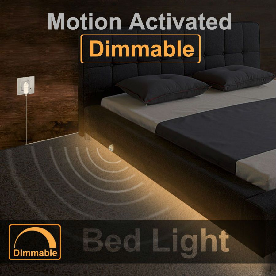 Motion Activated Under Bed Led Strip Night Light Under Bed