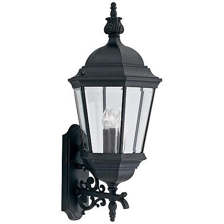 Builder 30 1 2 High Traditional Black Outdoor Wall Light 9c187 Lamps Plus Wall Lantern Outdoor Wall Lighting Outdoor Walls