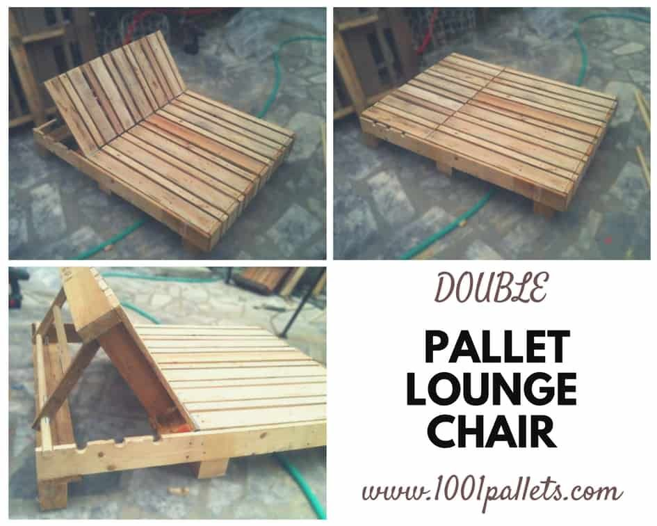 Double Pallet Lounge Chair With Images